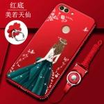 (025-1202)เคสโทรศัพท์มือถือหัวเว่ย Case Huawei Y9 2018 เคสนิ่มลายผู้หญิงแฟชั่นขอบเพชร