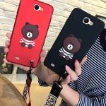 (388-115)เคสมือถือ Samsung Galaxy Note2 เคสนิ่ม Brown 3D น่ารักๆ