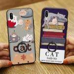 (025-1209)เคสโทรศัพท์มือถือหัวเว่ย Case Huawei Nova3e/P20lite เคสพลาสติกลายน่ารักๆพร้อมแหวนติดด้านหลัง