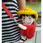 กระเป๋าสะพายข้าง ลายตุ๊กตา Luffy (ซื้อ 3 ชิ้น ราคาส่ง 270 บาท/ชิ้น)