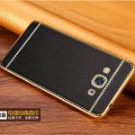 (พร้อมส่ง)เคสมือถือซัมซุง Case Samsung A8 เคสนิ่มขอบทองแฟชั่นลายหนัง