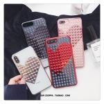 (747-005)เคสมือถือไอโฟน Case iPhone X เคสนิ่มลายหัวใจแฟชั่น