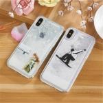 (436-395)เคสมือถือไอโฟน Case iPhone X เคสนิ่มเกล็ดหิมะลายน่ารักๆ