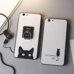 (025-1065)เคสมือถือ Case OPPO R9s เคสนิ่มคลุมรอบลายแมวดำน่ารัก แบบมีแหวนมือถือ/ไม่มีแหวนมือถือ พร้อมสายคล้องคอถอดแยกสายได้