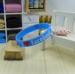 สายรัดข้อ Wristband ริสแบนด์ I Love Facebook สีฟ้า
