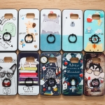 (025-1148)เคสมือถือซัมซุง Case Samsung S7 Edge เคสนิ่มซิลิโคนลายน่ารัก พร้อมแหวนมือถือและสายคล้องคอถอดแยกสายได้