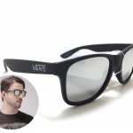 แว่นกันแดด Vans Spicoli 4 Matte Black/Silver <ปรอทเงิน>