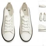 พร้อมส่งไทย - H&M แท้ รองเท้าผ้าใบ ทรงสวย ทรงสวย จาก shop ยุโรป ไซส์ 37