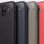 (436-490)เคสโทรศัพท์มือถือซัมซุง Case J6 2018 เคสนิ่มลายขนแปรงอลูมิเนียม