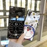 (633-013)เคสมือถือไอโฟน Case iPhone X เคสนิ่มพื้นหลังกระจกลายโดเรมอน