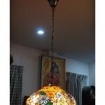 โคมไฟstain glass ลายดอกไม้ รหัส15261ss1