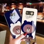 (762-001)เคสโทรศัพท์มือถือซัมซุง Case S6 Edge Plus เคสนิ่มหมีบราวน์
