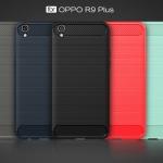 (025-1083)เคสมือถือ Case OPPO R9 Plus เคสนิ่ม tpu กันกระแทกแฟชั่นพื้นผิวลายโลหะ