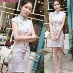 รหัส china girl78 ชุดกี่เพ้า,ชุดจีน สีขาว