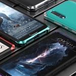 (724-001)เคสโทรศัพท์มือถือ Case Huawei P20 เคสโลหะแฟชั่นขอบสีเทห์ๆ