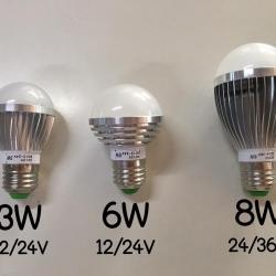 ไฟ LED Bulb White 3W 12/24V(สีขาว)