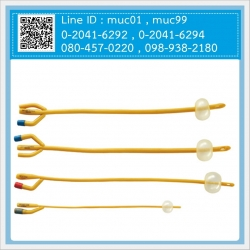 สายสวนปัสสาวะใช้แล้วทิ้ง Sterile (Latex Foley Catheter Silicone Coated)