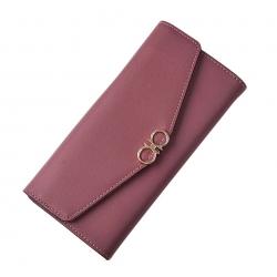 Lucky Wallet กระเป๋าโชคดีสีชมพูรับทรัพย์คนเกิดวันอังคาร วันศุกร์ กระเป๋าคลัทช์ซองจดหมาย มีช่องซิปใส่เหรียญในตัว