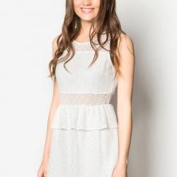 Off White Princess Lace Dress เดรสลูกไม้สีขาวแสนสวยใส่ออกงาน
