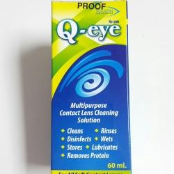 น้ำยาล้างแช่คอนแทคเลนส์ Q-eye 60 ml. **ลดราคาถูกที่สุด**