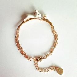เกาหลีฟีเวอร์ Moon & Rabbit Bracelet สร้อยข้อมือกระต่ายหมายจันทร์
