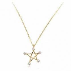 "It's ok, that's Love, Korean Series, Star Pearl Gold Necklace สร้อยคอสีทองรูปดวงดาวประดับมุก นางเอกซีรี่ส์ ""ถ้ารักกันมันก็โอเค"""