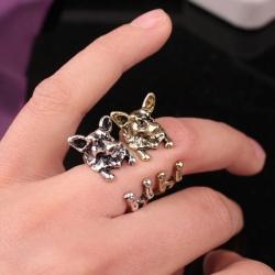 3D Alsatian Dog Open Ring แหวนรูปน้องหมาอัลเซเชี่ยน 3 มิติ รอบแหวนแบบเปิด