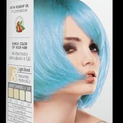 PASTEL Carebeau T01 สีฟ้าพาสเทล + ฟรีตัวเร่งเม็ดสีฟ้า