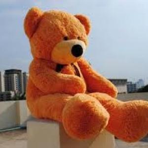 ตุ๊กตาหมีผูกโบว์สีน้ำตาลเข้ม ขนาด 1.4 m.