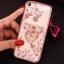 (025-1101)เคสมือถือไอโฟน case iphone 5/5s/SE เคสนิ่มซิลิโคนใสลายหรูติดคริสตัล พร้อมแหวนเพชรวางโทรศัพท์ thumbnail 4