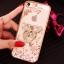 (025-1101)เคสมือถือไอโฟน case iphone 5/5s/SE เคสนิ่มซิลิโคนใสลายหรูติดคริสตัล พร้อมแหวนเพชรวางโทรศัพท์ thumbnail 12