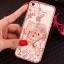 (025-1101)เคสมือถือไอโฟน case iphone 5/5s/SE เคสนิ่มซิลิโคนใสลายหรูติดคริสตัล พร้อมแหวนเพชรวางโทรศัพท์ thumbnail 7