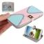 Case เคส Cross 2-color แบบพลิกแนวนอน Samsung GALAXY S4 IV (i9500) (Pink + Baby Blue) thumbnail 1