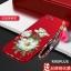 (694-016)เคสมือถือ Case OPPO R9s Plus/R9s Pro เคสนิ่มคลุมเครื่องสีแดงลายดอกไม้แฟชั่นสวยๆ พร้อมสายคล้องมือลายดอกไม้ thumbnail 6
