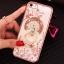 (025-1101)เคสมือถือไอโฟน case iphone 5/5s/SE เคสนิ่มซิลิโคนใสลายหรูติดคริสตัล พร้อมแหวนเพชรวางโทรศัพท์ thumbnail 3