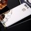 (025-1151)เคสมือถือ Case Huawei P9 เคสกรอบบัมเปอร์โลหะฝาหลังอะคริลิคแววกึ่งกระจก thumbnail 4