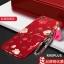 (694-016)เคสมือถือ Case OPPO R9s Plus/R9s Pro เคสนิ่มคลุมเครื่องสีแดงลายดอกไม้แฟชั่นสวยๆ พร้อมสายคล้องมือลายดอกไม้ thumbnail 5