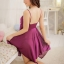 Sexy Charming Princess Dress ชุดนอนเซ็กซี่ผ้ามันลื่นสีม่วงหรูแต่งลูกไม้ชายไม่เท่า thumbnail 5