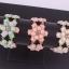 Sweet Pink Flower Bracelet สร้อยข้อมือออกงานรูปดอกไม้แต่งหินสีชมพูหวาน thumbnail 4