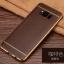 (025-1143)เคสมือถือ Case Samsung S8 Plus/ S8+ เคสนิ่ม TPU ขอบทองแววพื้นหลังลายหนัง thumbnail 8