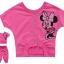ชุดเซ็ท เสื้อสีชมพู ลายมินนี่เม้าส์ + กางเกง 4 ส่วนติดโบว์ใหญ่ๆ ดูสดใส น่ารักดีค่ะ size 95-140 thumbnail 1