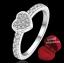 ฟรีกล่องแหวน R904 แแหวนเพชรCZ ตัวเรือนเคลือบเงิน 925 หัวแหวนรูปหัวใจ ขนาดแหวนเบอร์ 7 thumbnail 1