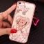 (025-1101)เคสมือถือไอโฟน case iphone 5/5s/SE เคสนิ่มซิลิโคนใสลายหรูติดคริสตัล พร้อมแหวนเพชรวางโทรศัพท์ thumbnail 5