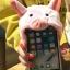 (686-001)เคสมือถือ Case Huawei P8 Lite เคสนิ่มชุดฮู้ดตุ๊กตาสวมโทรศัพท์นุ้งหมาชิบะและนุ้งหมูน้อยสีชมพู thumbnail 2