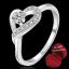 ฟรีกล่องแหวน R903 แแหวนเพชรCZ ตัวเรือนเคลือบเงิน 925 หัวแหวนรูปหัวใจ ขนาดแหวนเบอร์ 7 thumbnail 1
