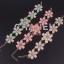 Sweet Pink Flower Bracelet สร้อยข้อมือออกงานรูปดอกไม้แต่งหินสีชมพูหวาน thumbnail 5