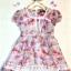 เดรสผ้าชีฟองนิ่มๆ แนววินเทจ (Vintage) สีชมพู ลายดอกไม้สีหวาน สบายตา แต่งลูกไม้พร้อมซับใน ใส่ไปงานก็ได้นะคะ น่ารัก ดูดีมากค่ะ size 5-15 thumbnail 1