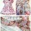 เดรสผ้าชีฟองนิ่มๆ แนววินเทจ (Vintage) สีเทา ลายดอกไม้สีหวาน สบายตา แต่งลูกไม้พร้อมซับใน ใส่ไปงานก็ได้นะคะ น่ารัก ดูดีมากค่ะ size 5-15 thumbnail 2