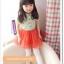 เดรสน่ารักๆ เสื้อเขียวจุดส้ม กระโปรงฟูๆ สีสดใส size 110, 120, 130, 140, 150 (ไซส์ค่อนข้างเล็ก สอบถามก่อนค่ะ) thumbnail 1