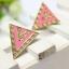Gold Triangle Pink Earing ต่างหูรูปสามเหลี่ยมสีทองแต่งอีนาเมลสีชมพู thumbnail 1